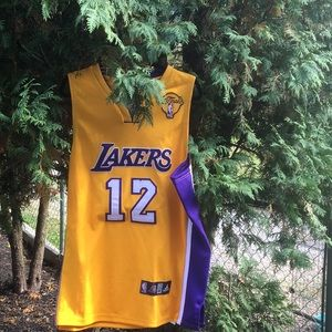 Lakers / Brown authentic basketball gear jersey